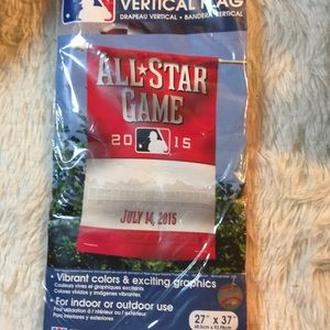MLB All Star Game Vertical Flag Cincinnati 2015